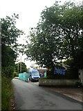 SX9886 : Construction site, Green lane, Exton by David Smith