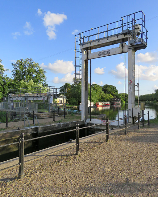 Baits Bite Lock and sluice on a June evening