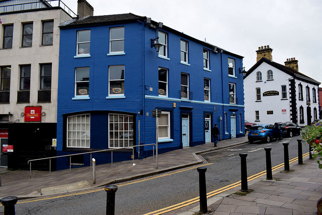 Newly painted building, Omagh