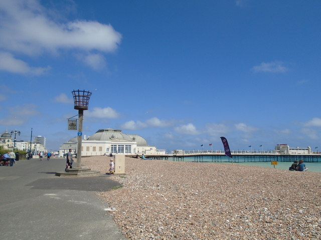 Beach by Worthing Pier