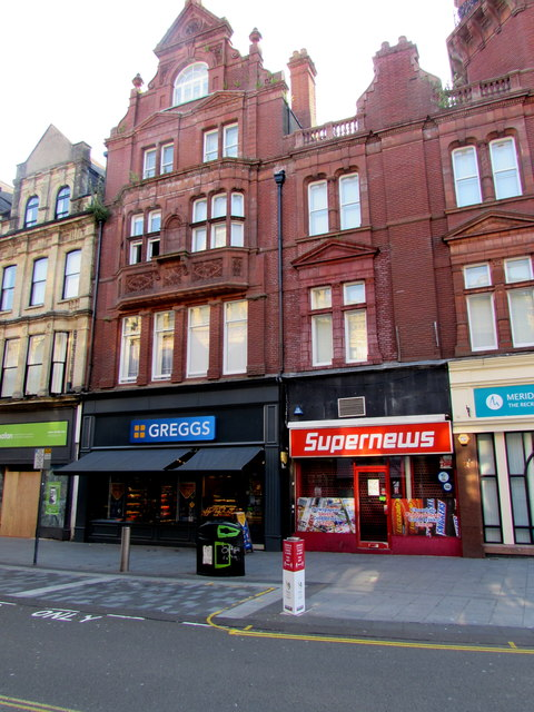 Recently reopened Greggs,  31 High Street, Newport by Jaggery
