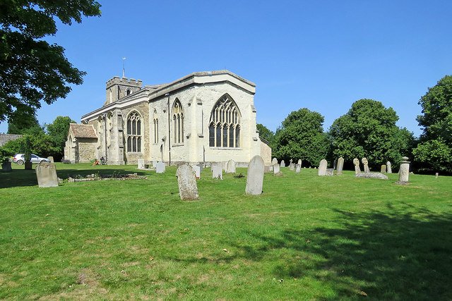 Harlton church on a midsummer morning
