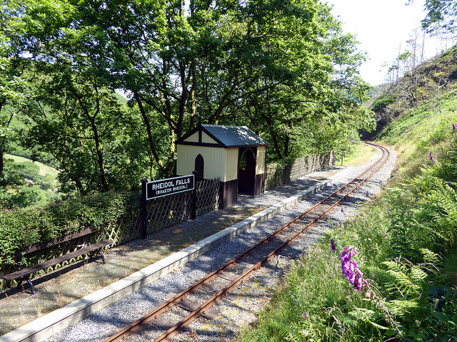 Rheidol Falls station during the coronavirus crisis...