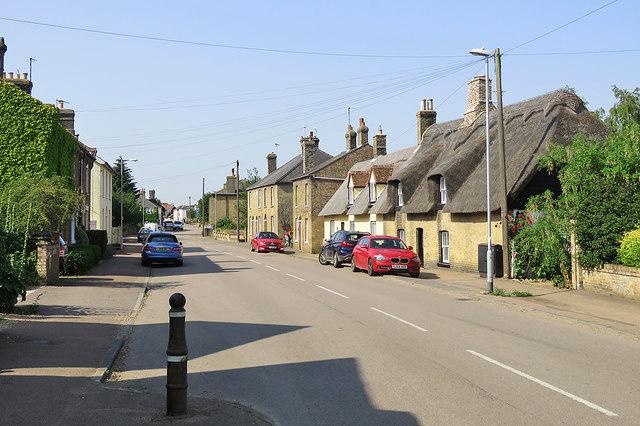 Cottenham High Street on a June morning
