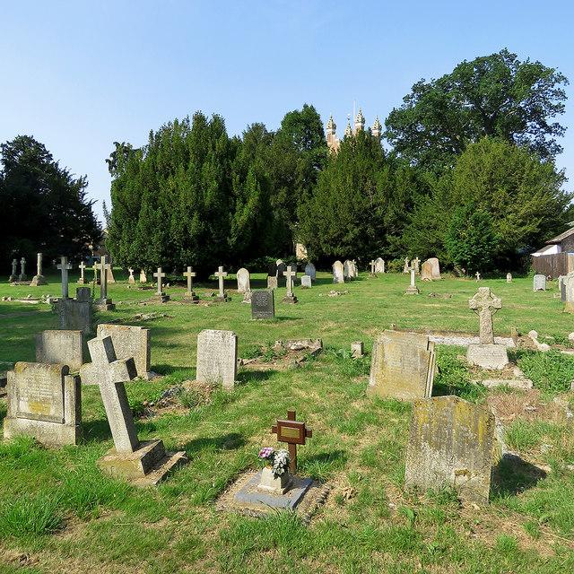 Cottenham: in All Saints' churchyard