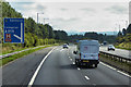 NT0370 : Eastbound M8 approaching Junction 3 by David Dixon