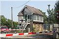 SK8581 : Stow Park Signal Box, Till Bridge Lane by Jo Turner