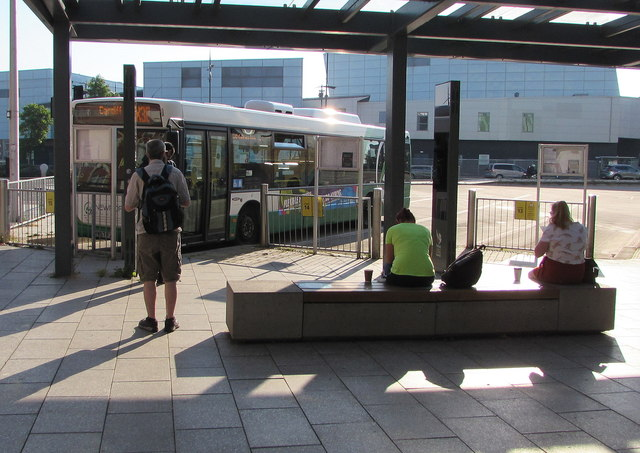 X30 bus in Friars Walk bus station, Newport by Jaggery