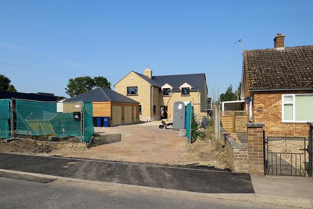 Landbeach High Street: a new house