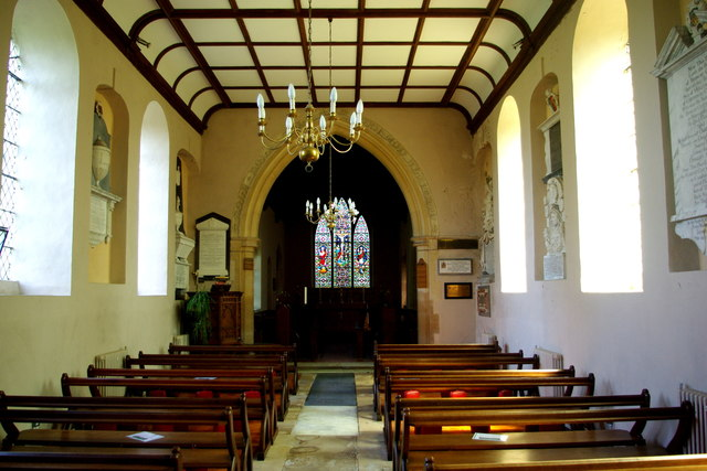 View east in St Mary's Church