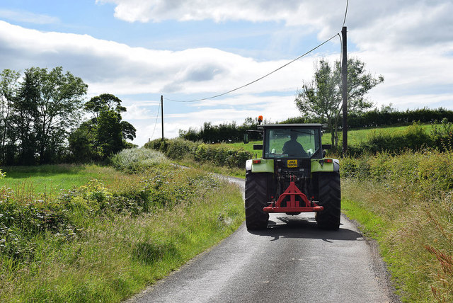 A passing tractor, Laragh