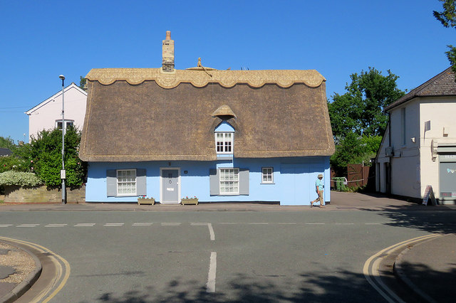 Great Shelford: sculler on the roof