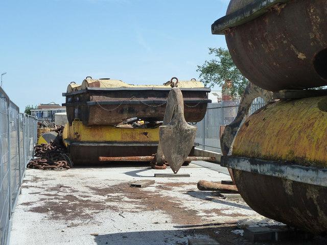 Port equipment in PLA yard, Denton Wharf