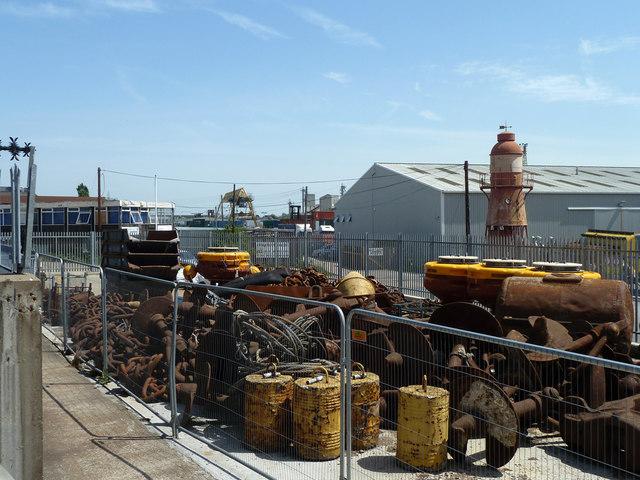 Old port equipment in PLA yard, Denton Wharf