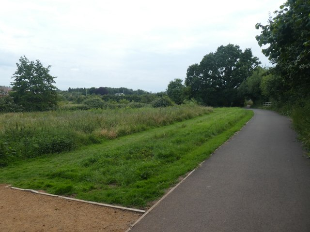 Cycle path and open space, by Pinhoe Road, Pinhoe
