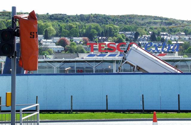 Tesco Extra Port Glasgow construction site