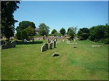 SO5928 : Churchyard at St. Mary's Church (Foy) by Fabian Musto