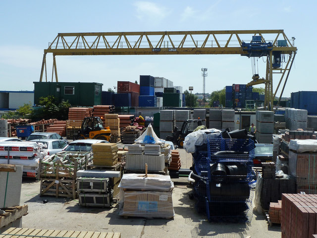 Building supplies yard, Denton