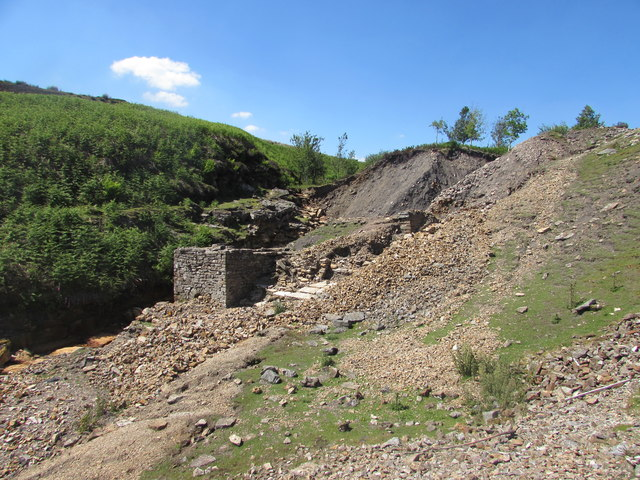 Washy Green Mine Wheel Pit and Crushing Area