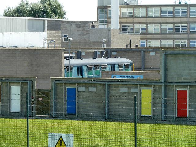 Metropolitan Police specialist training centre - train