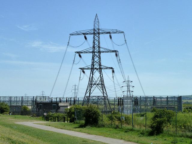 Power lines going underground