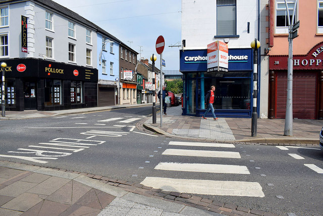 Shops cleared out along High Street, Omagh