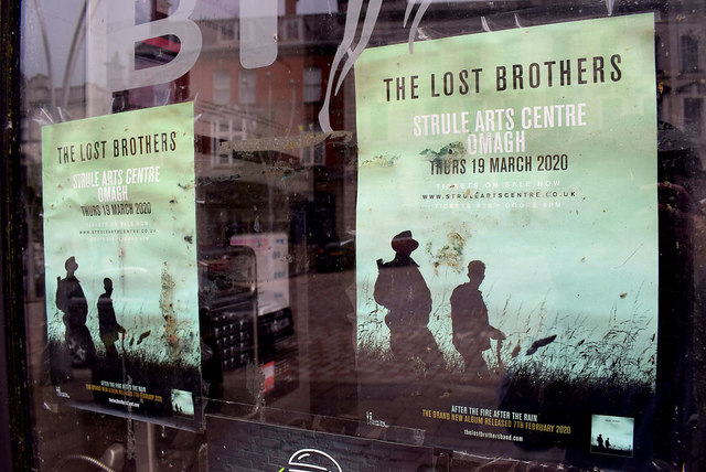 Notices for a performance at Strule Arts Centre, Omagh