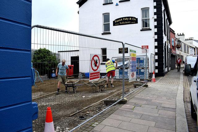 Paving work along John Street, Omagh