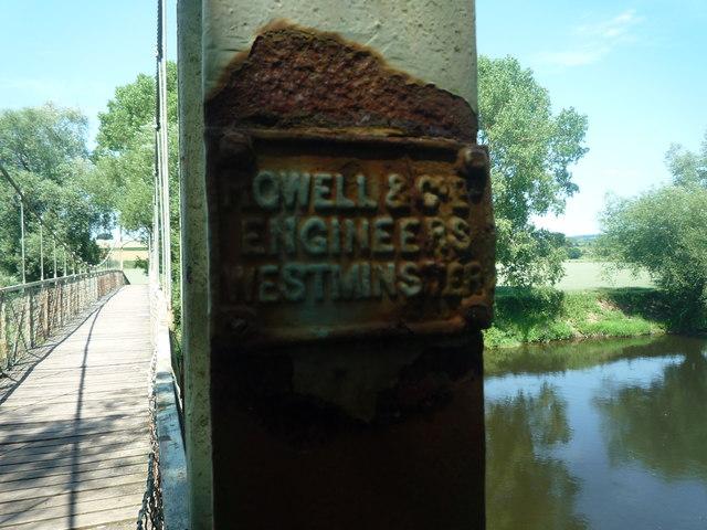 Plaque on Foy Footbridge