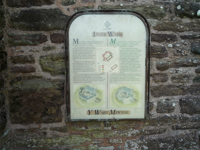 Sign on Grosmont Castle (Gatehouse)