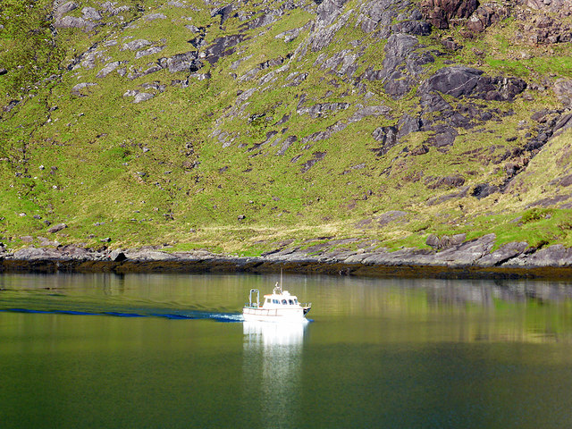 Our ferry for Elgol arriving at Coruisk