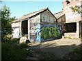 SE1124 : Graffiti art on a derelict building, Southowram 1 by Humphrey Bolton