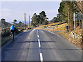 NT0924 : Cyclist on the A701 at Tweedsmuir by David Dixon
