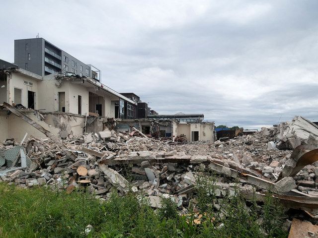 Bury Fire Station Demolition, June 2020