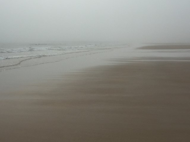 Haar, Ravensheugh Sands by Richard Webb