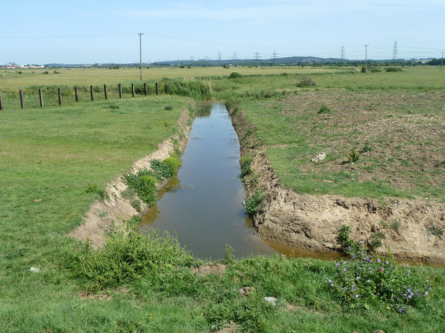 Recently dug ditch, 2011