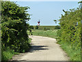 TQ6974 : Looking down military road towards Shornmead Light by Robin Webster