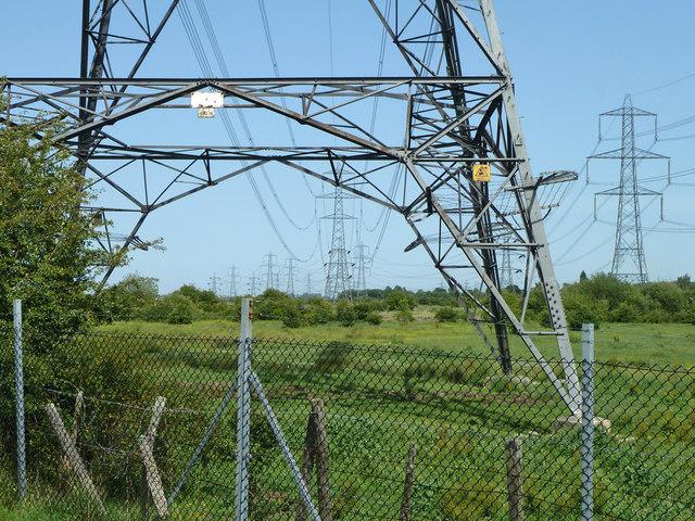 National Grid 400kV power lines