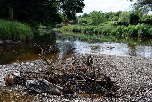Debris in the Camowen River