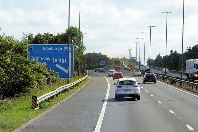 Eastbound M8 at Junction 2