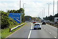 NT1171 : Eastbound M8 at Junction 2 by David Dixon