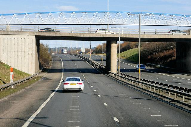 M9 Motorway at Newbridge Roundabout