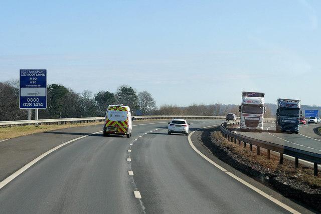 M90 near Kirkliston