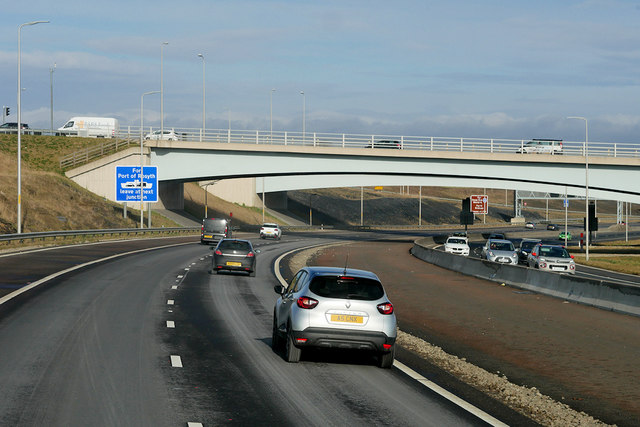 Bridges over the M90 near to Queensferry
