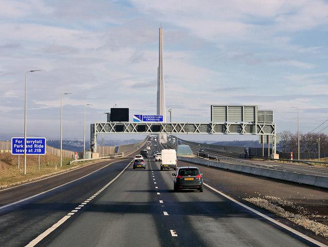 M90 at Queensferry Crossing Bridge