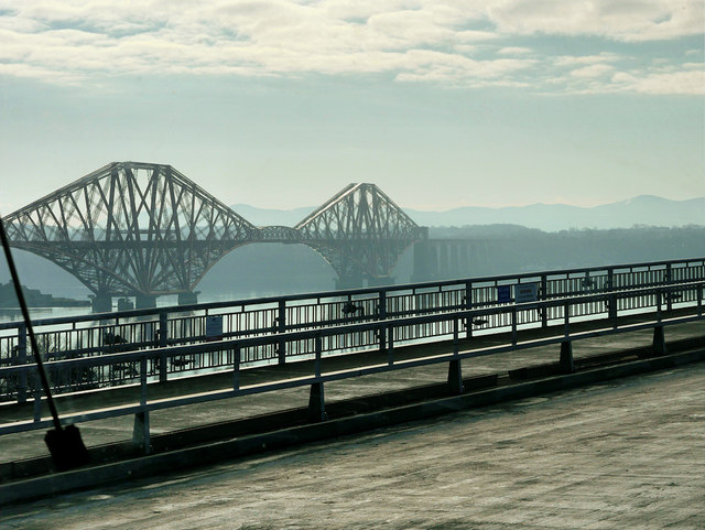 View of the Forth Bridge from the Road Bridge
