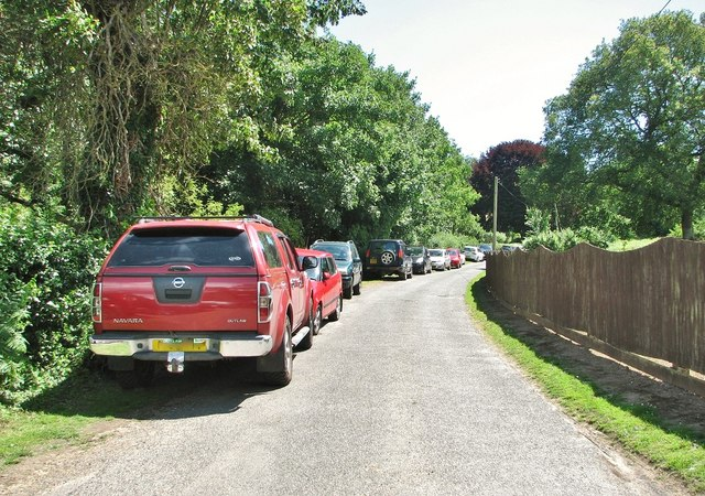 Cars parked on Mill Hill