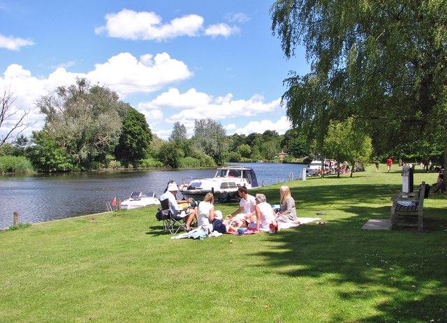 Having a picnic on Bramerton Common