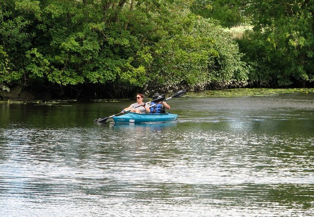 Canoeists on the River Yare