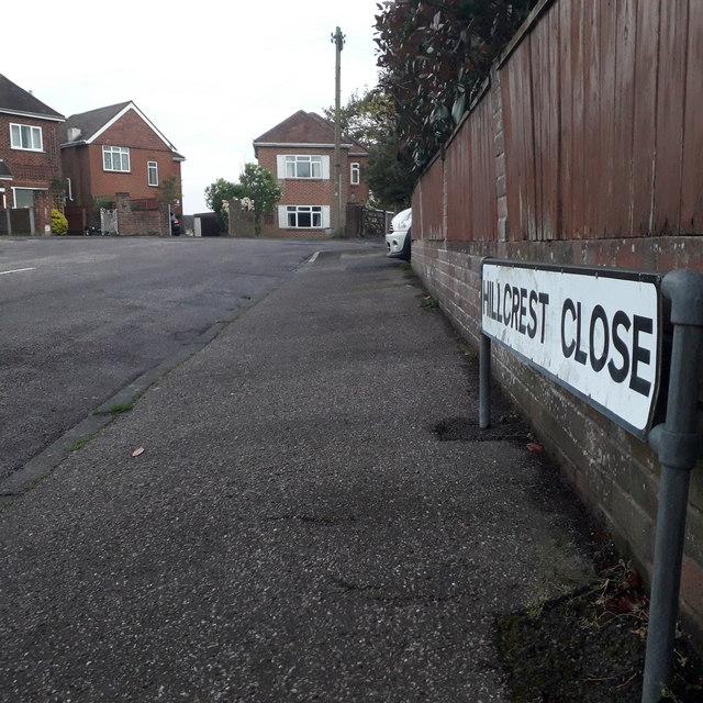 Moordown: Hillcrest Close